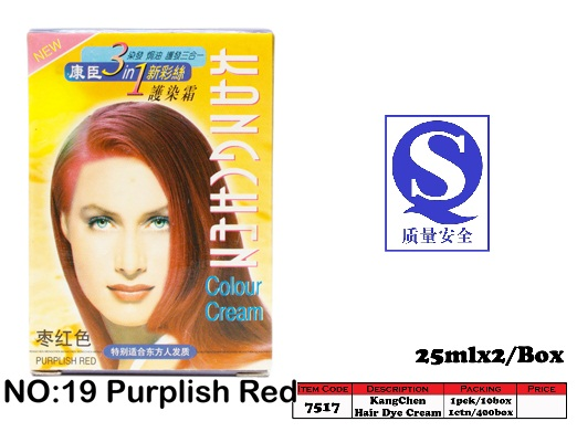 7517-19 Kang Chen Hair Dye Cream No:19 Purplish Red