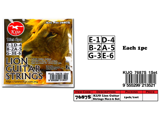7687S KIJO Lion Guitar Strings Set