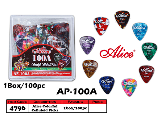 4796 Alice Colorful Celluloid Guitar Picks