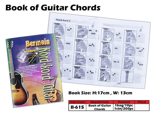 B-615 Book of Guitar Chords