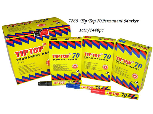 7768 Tip Top 70 Permanent Marker (Blue,Red,Black)